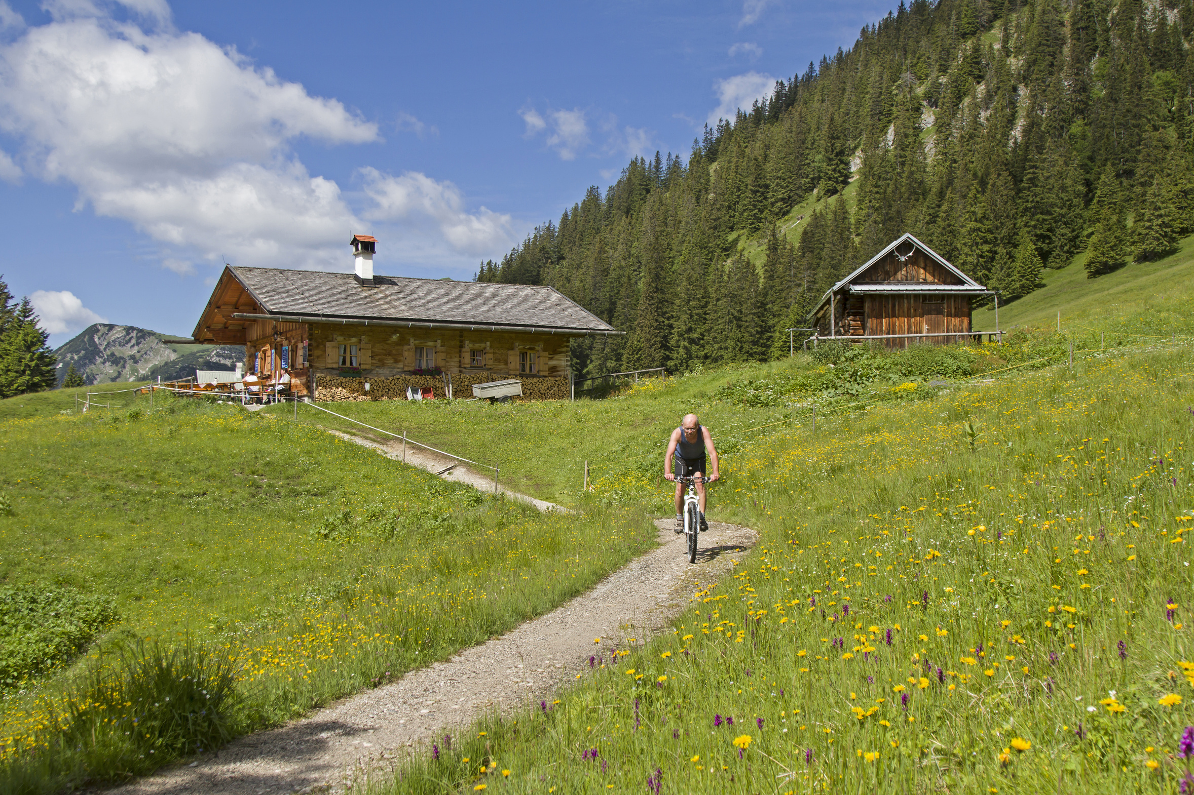 Radfahren in Ammergauer Alpen